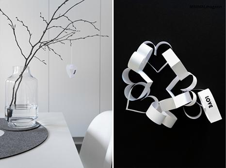 Valentinsherzen aus Papier selber machen, eine kinderleichte Anleitung findest du im MINIMALmagazin - minimalistisch wohnen und leben.