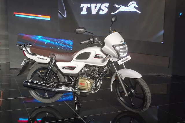 New TVS Radeon 110cc motorcycle