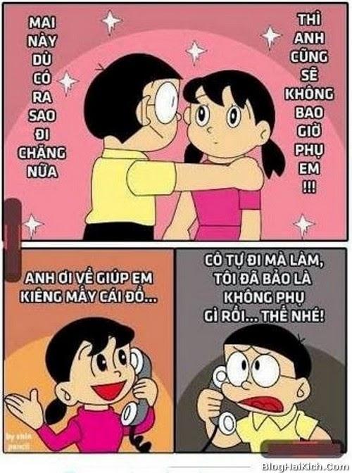 Tranh vui Nobita không bao giờ phụ Xuka