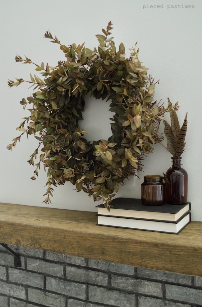 Pieced Pastimes Minimalist Fall Home Mantel