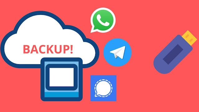 Backup your online chats