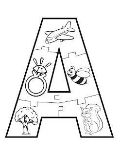 puzzle de abecedario para niños