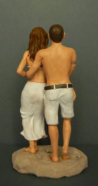 statuette personalizzate ritratti estate mare ricordo idea regalo orme magiche