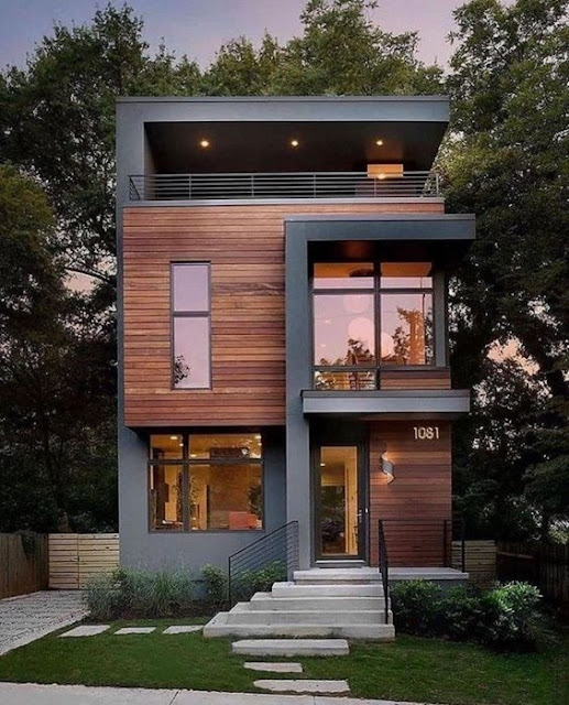 model rumah minimalis 2 lantai tampak depan dan samping