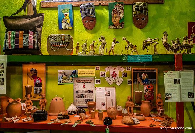 Loja de artesanato em Santa Maria, Ilha do Sal