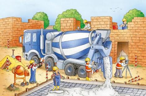Špína a nepořádek na stavbě