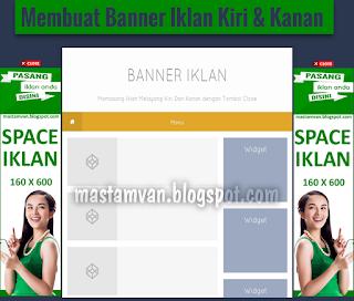 iklan blog melayang kanan dan kiri