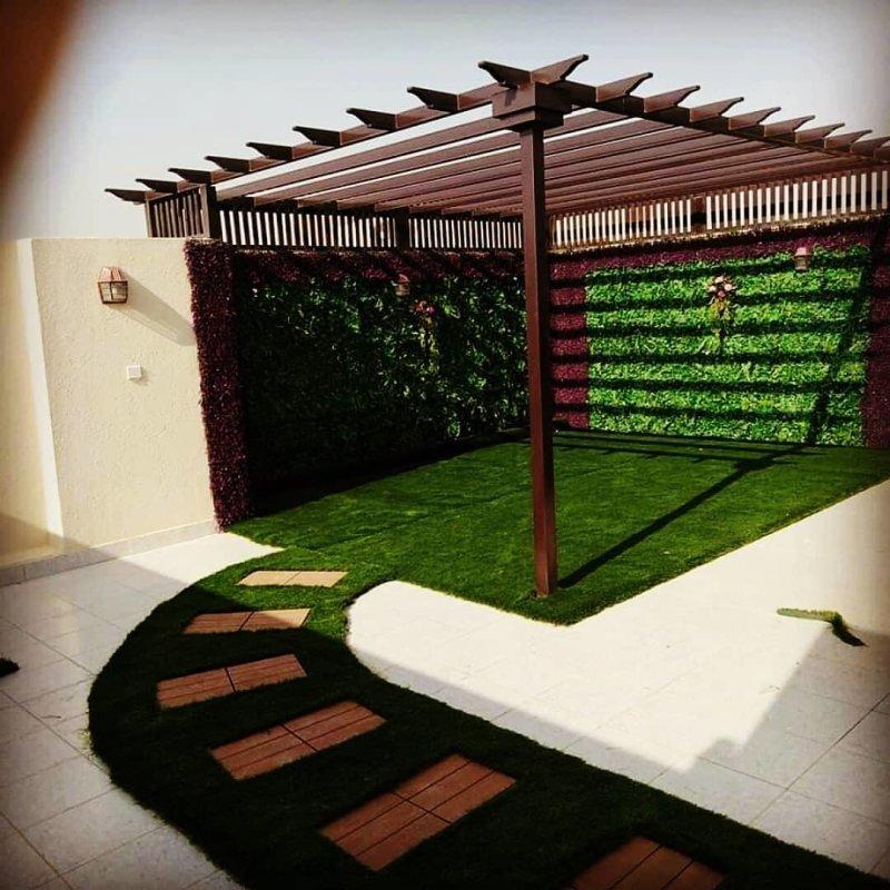 تنسيق حدائق جده تصميم حديقة الفيلات والقصور بجده تنسيق جلسات سطح المنزل