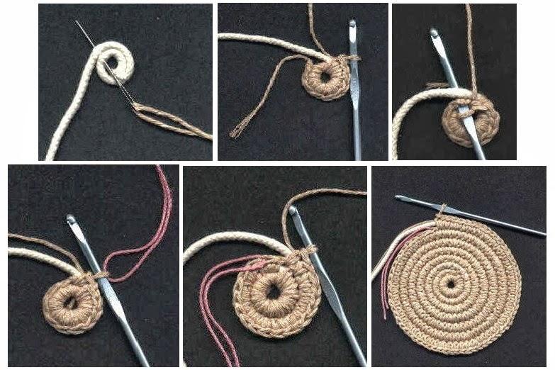 Tejer en Ganchillo Lana con Cuerda Tutorial