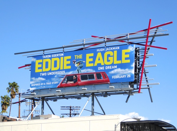 Eddie the Eagle film billboard