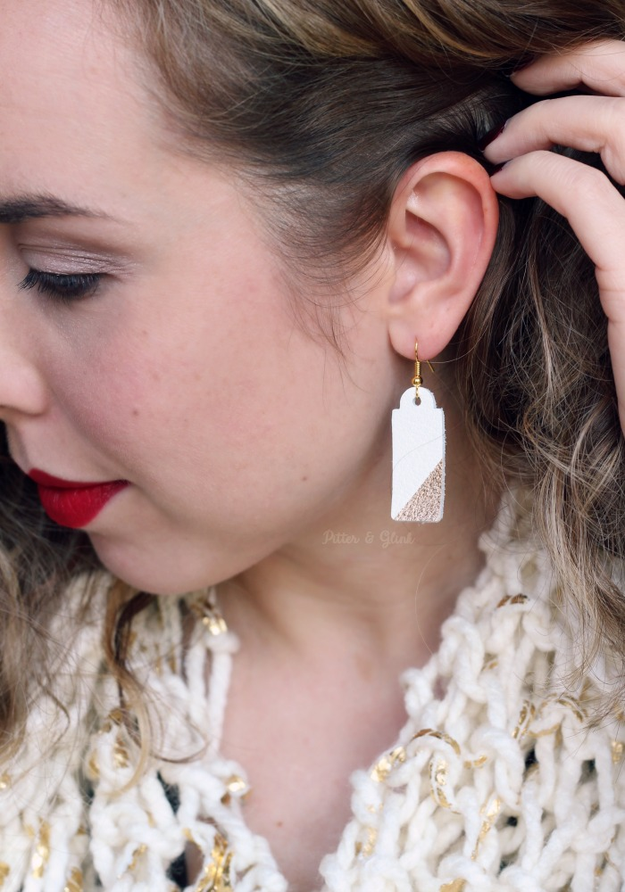 Easy-to-Make Leather Earrings Gift Idea