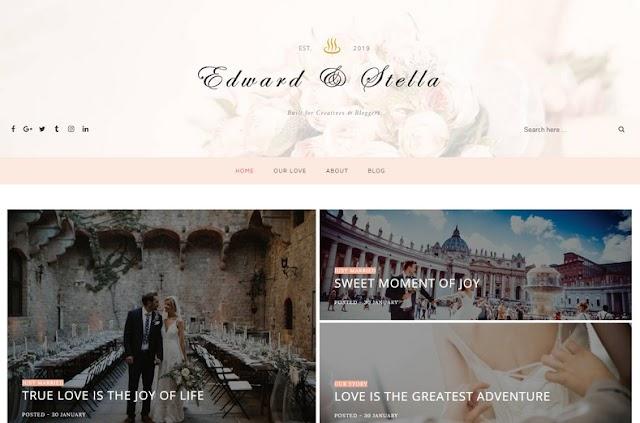 Edward Stella Blogger Template - Giao diện blog cá nhân tuyệt vời