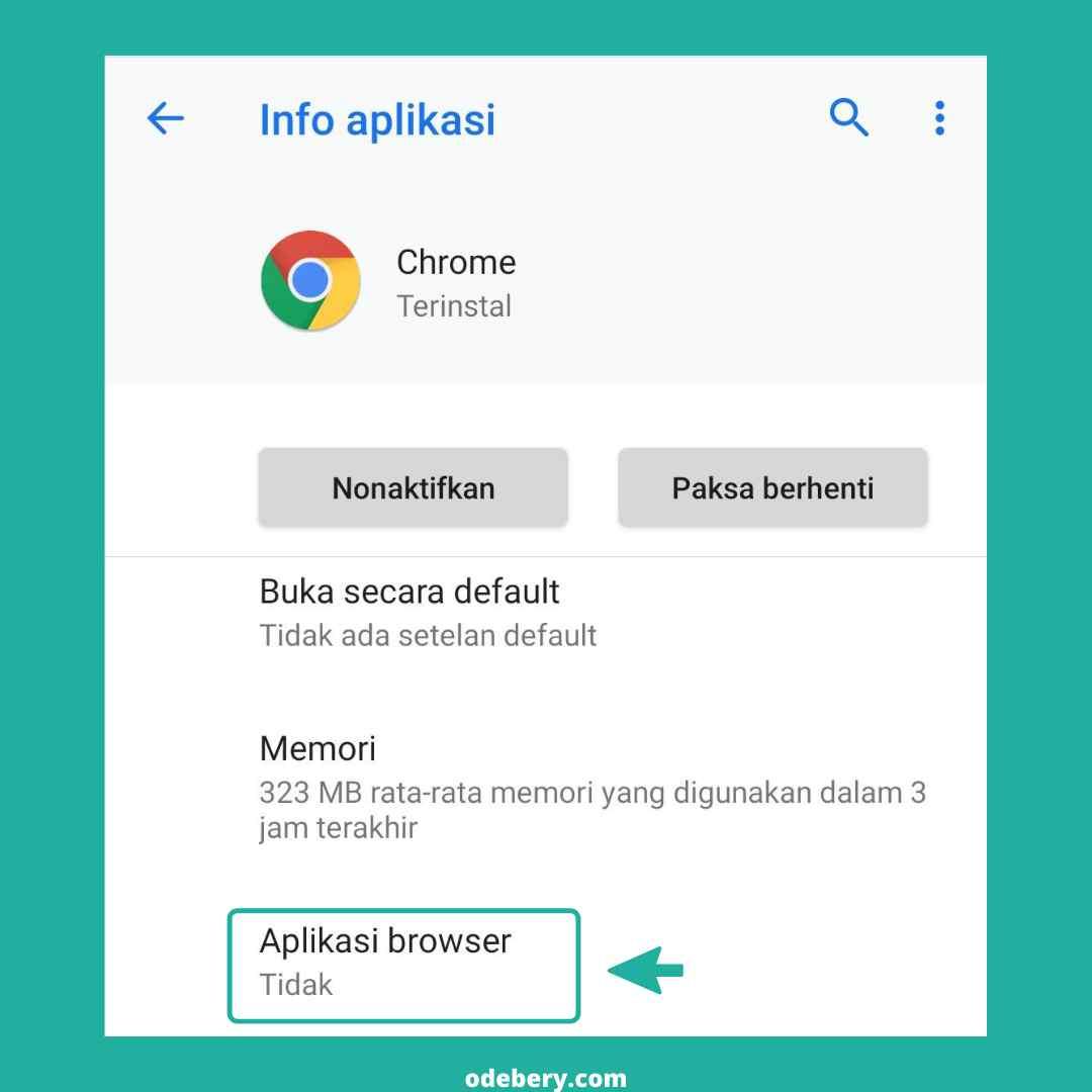 Cara membuat chrome menjadi browser default