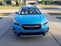 Subaru Crosstrek Hybrid Crossbars front view