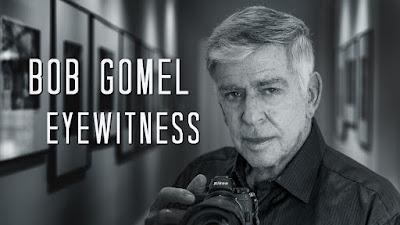 Bob Gomel Eyewitness cover photo, Bob with camera