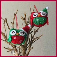 Buhitos navideños amigurumi