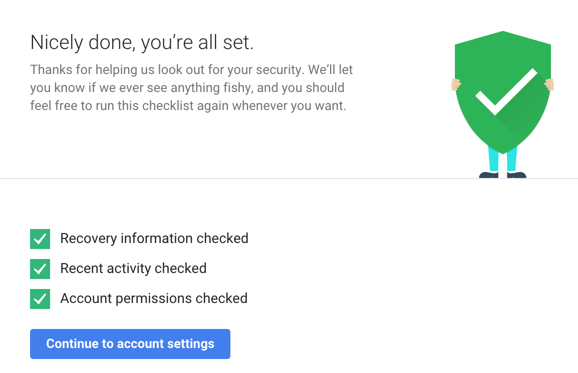 google security checkup