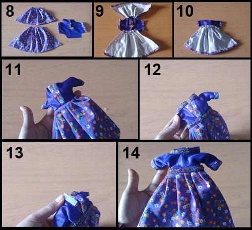 Cara Mudah Membuat Gaun Boneka Barbie Dari Kain Perca