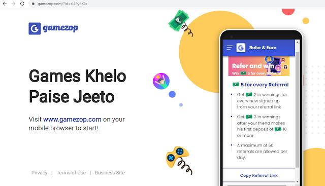 GameZop Website Loot Offer -Games Khelo Paise Jeeto