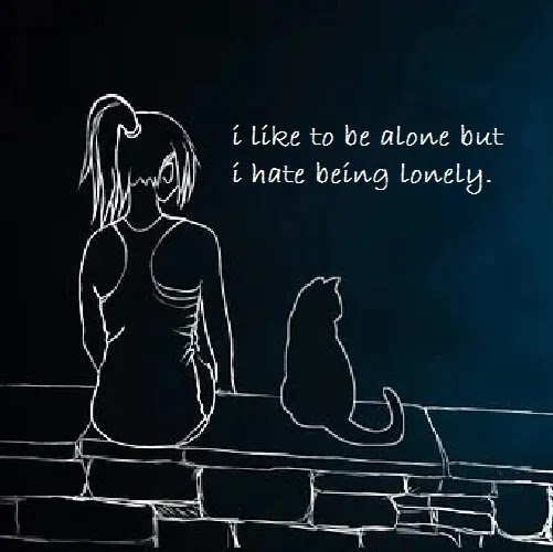i hate being lonely DP for girls