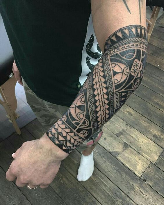 Maori Forearm Tattoo