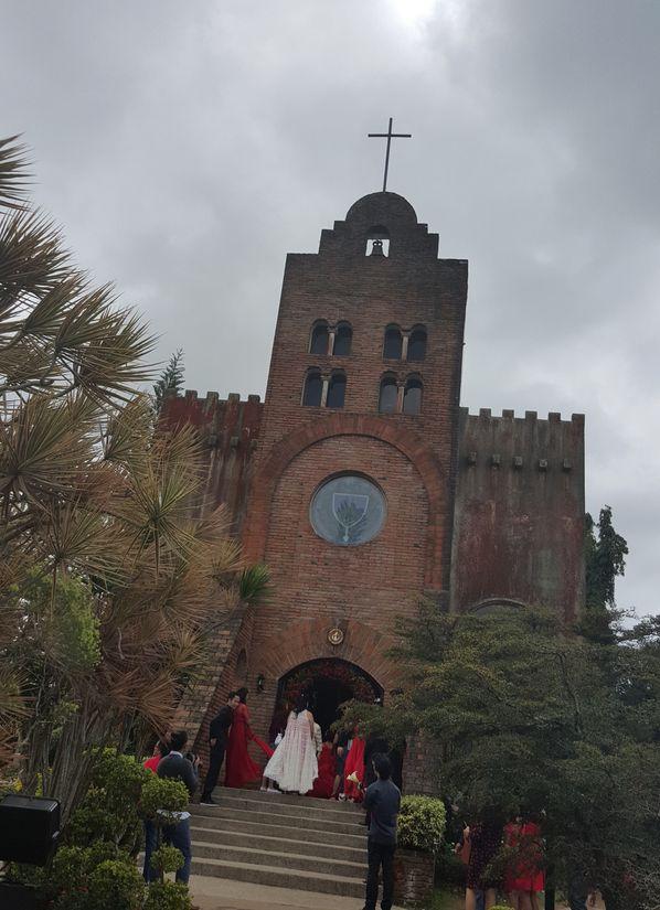 At the entrance of Caleruega Church
