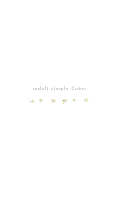 : adult simple Cube : white