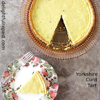 Yorkshire Curd Tart - A British Historical Recipe / www.delightfulrepast.com