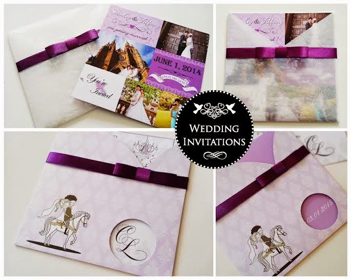 List of wedding invitation card and stationery diy suppliers malaysia purple wedding invite kl stopboris Image collections