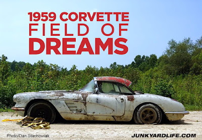 1959 Corvette was dug out of a field where it was parked 34 years ago.