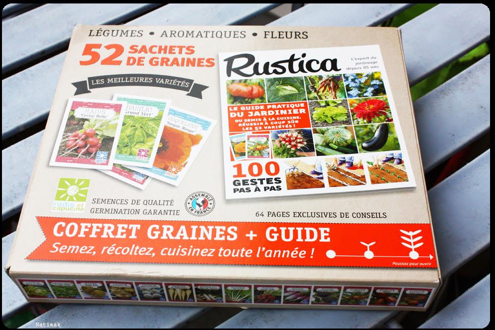 coffret 52 sachets de graines  de  Radis et capucine