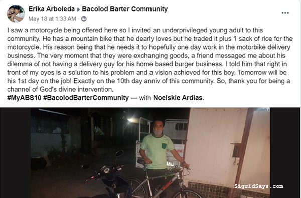 Atty Jocelle Batapa-Sigue, Bacolod Barter Community, Bacolod City, barter, barter trend, business, charity, consumerism, consumers, covid-19, enhanced community quarantine, FB group, founder, give, House of KBL, lockdown, luxury goods, luxury items, mechanics of barter, minimalism, needs, Negros Occidental, new normal, new stuff, old stuff, Philippine barter trend founder, Philippines, private group, relief goods, safety, trade, trend, wants