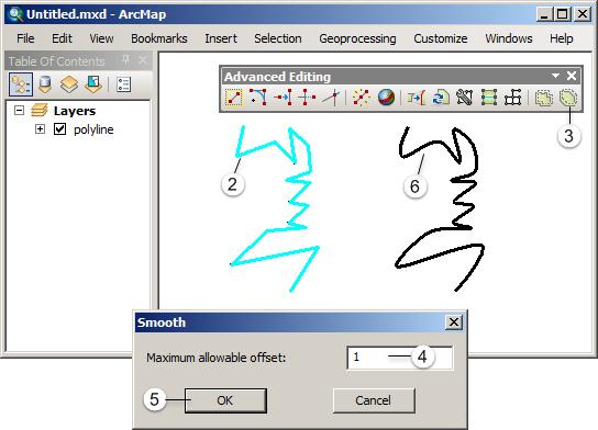 Editing Fitur pada ArcGIS (Tingkat Lanjut) - Smooth