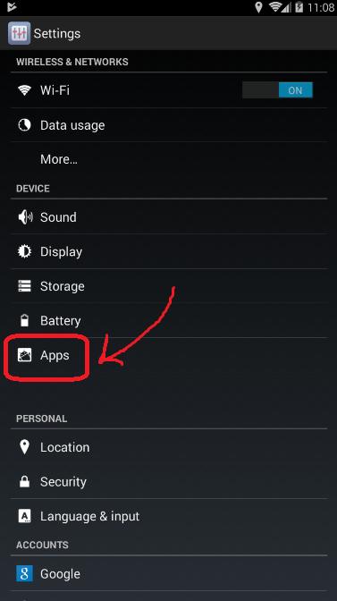 klik menu apps