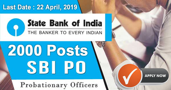 SBI PO Recruitment 2019 2000 Probationary Officer's Posts