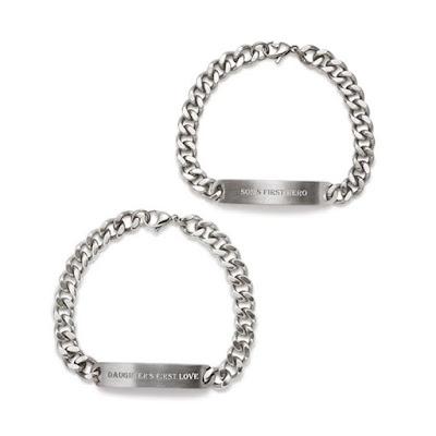Men's Stainless Steel Child's Hero Bracelet $39.99