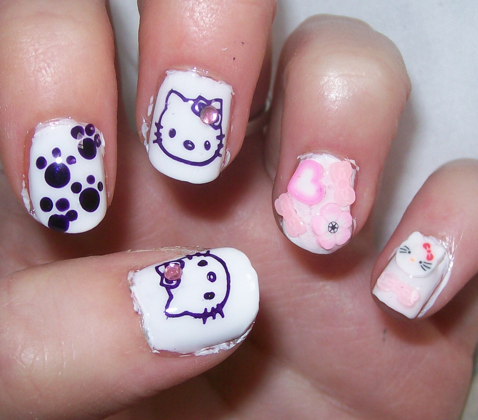 Nail Designs Hello Kitty | Nail Designs, Hair Styles ...