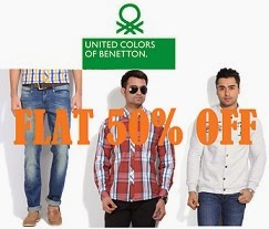 UCB Men's Clothing – Flat 50% Off@ Flipkart (Limited Period Offer)
