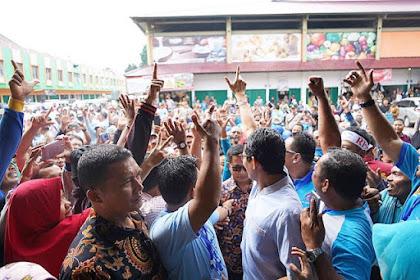 PETJAAAHHH!!! Sempat Diminta Bawaslu Tak Banyak Orang, Kehadiran Sandiaga Uno di Jambi Disambut Histeris Massa