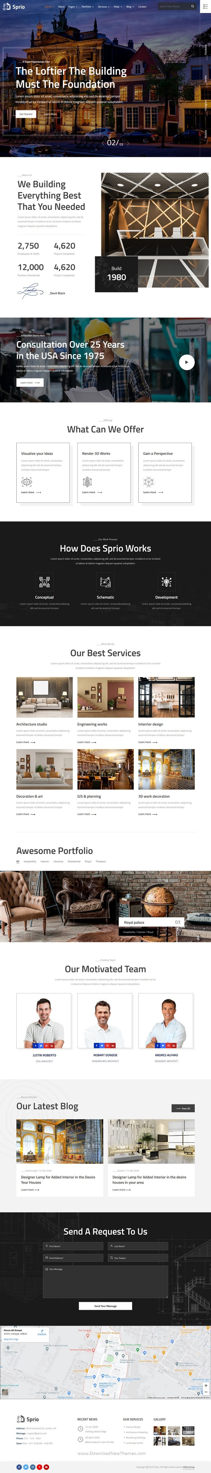 Architects & Engineers HTML Template
