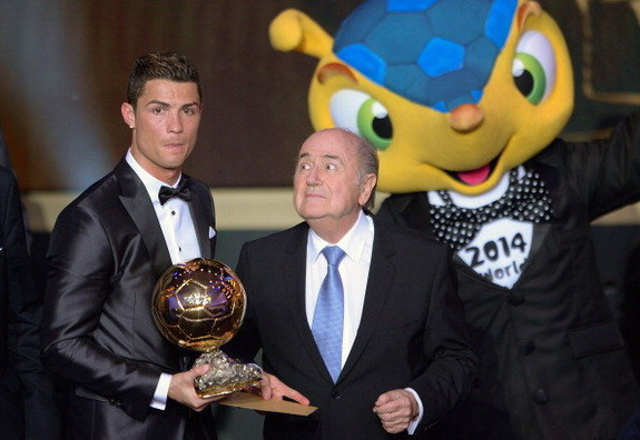 Sepp Blatter thinks of something weird about Cristiano Ronaldo