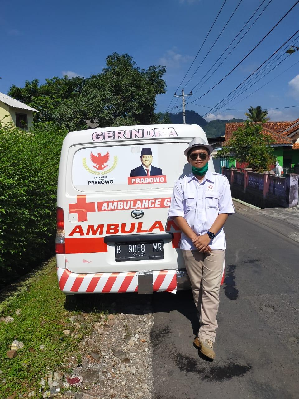 Mobil Ambulance / Ambulans Kesehatan Indonesia Raya (KESIRA) Partai Gerakan Indonesia Raya (Gerindra) Kabupaten Semarang Provinsi Jawa Tengah (Jateng) Republik Indonesia (RI) atau Negara Kesatuan Republik Indonesia (NKRI)