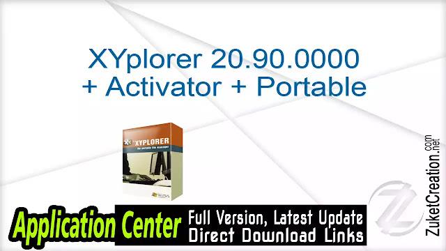 XYplorer 20.90.0000 + Activator + Portable