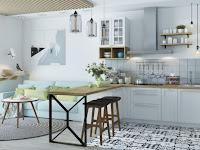 Scandinavian kitchen wooden furniture