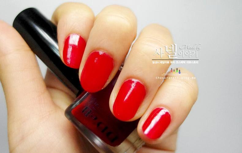 SARA NAIL: pretty red nail polish, Red nail design for
