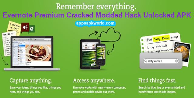 Download Evernote Premium v7.9 Cracked/Modded/Hack/Unlocked APK