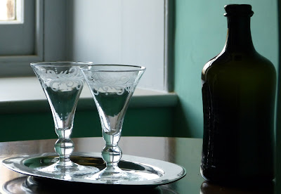 Cordial and glasses, Kew Palace