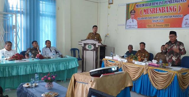 Ketua DPRD H Khairul Umam Menghadiri Musrenbang Kelurahan Duri Barat