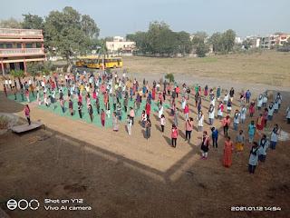सरस्वती शिशु मंदिर स्कूल में मनाया गया स्वामी विवेकानंद जी का जन्मदिवस