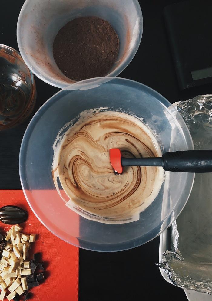Brownie baking ingredients